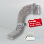 Die patentierten Flachovalrohre des Luftverteilsystems Zehnder OnFloor verfügen über eine hygienisch, glatte Innenhaut Clinside.