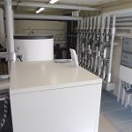 Die 63 kW Wärmepumpen-Anlage im sogenannten Energietempel des Galileoparks