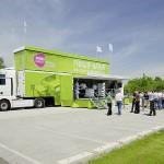 Rehau Energieeffizienz-Tour-Truck im Einsatz